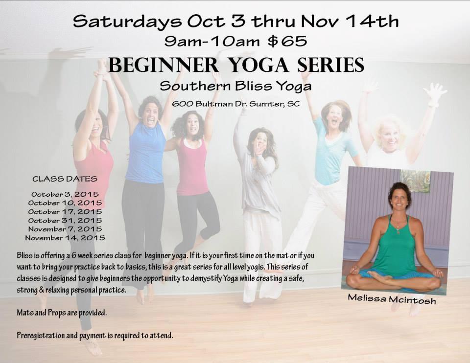 Beginner Series Flyer Oct | Southern Bliss Yoga Health